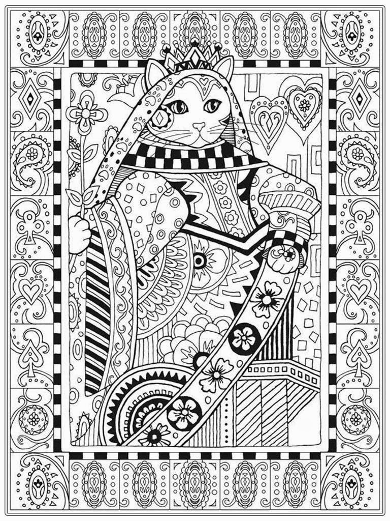 Cat Coloring Pages For Adults 45