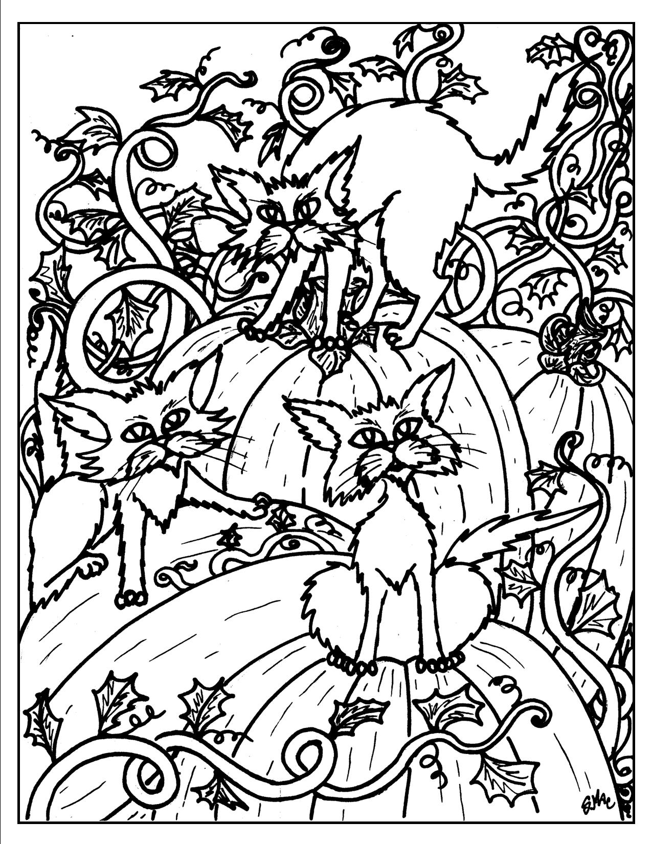 Cat Coloring Pages For Adults 49