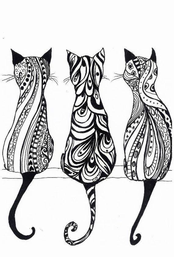 Cat Coloring Pages For Adults 52