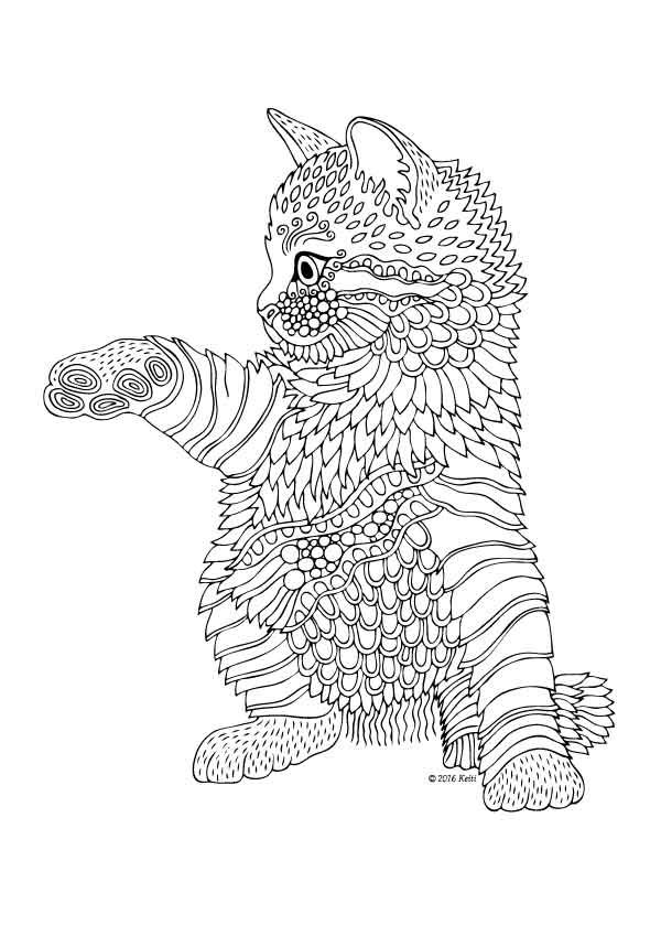 Cat Coloring Pages For Adults 53