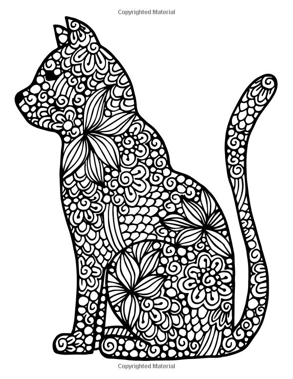 Cat Coloring Pages For Adults 57