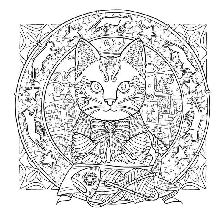 Cat Coloring Pages For Adults 58