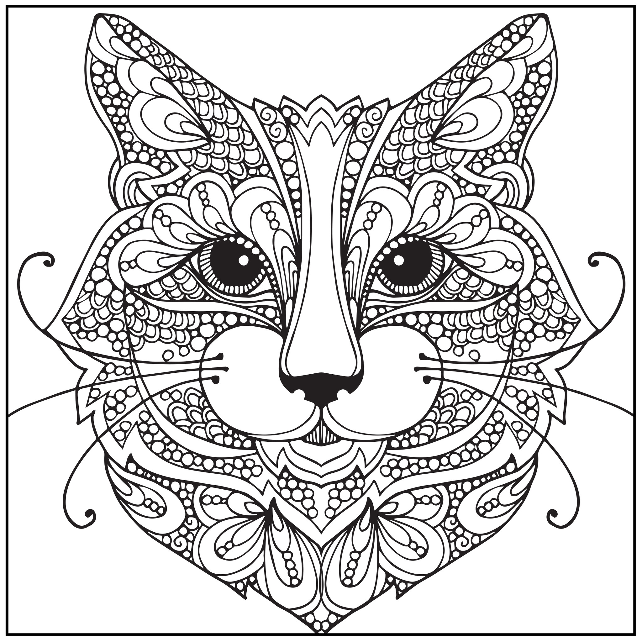 Cat Coloring Pages For Adults 59