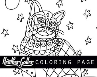 Cat Coloring Pages For Adults 60