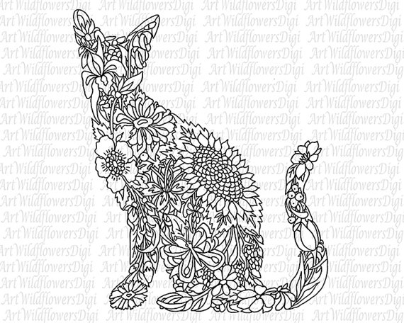 Cat Coloring Pages For Adults 61