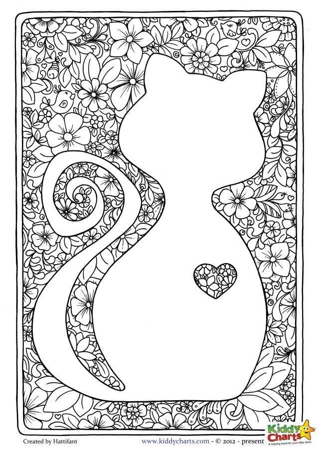 Cat Coloring Pages For Adults 64