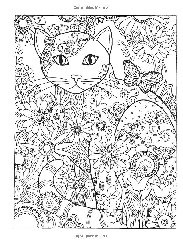Cat Coloring Pages For Adults 65