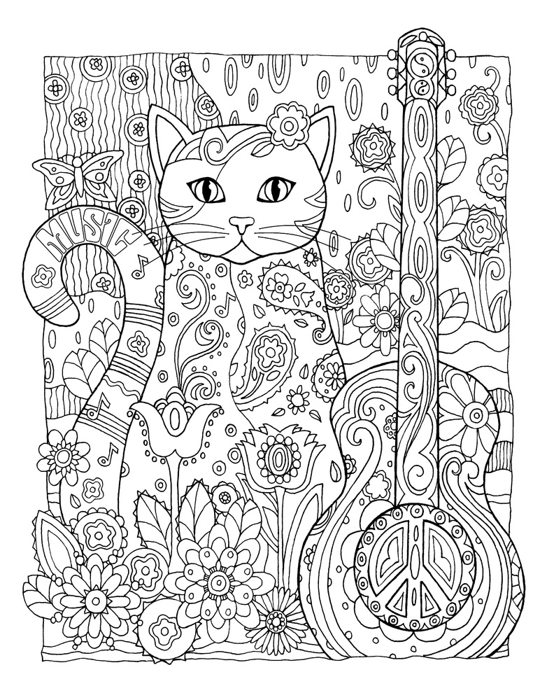 Cat Coloring Pages For Adults 66