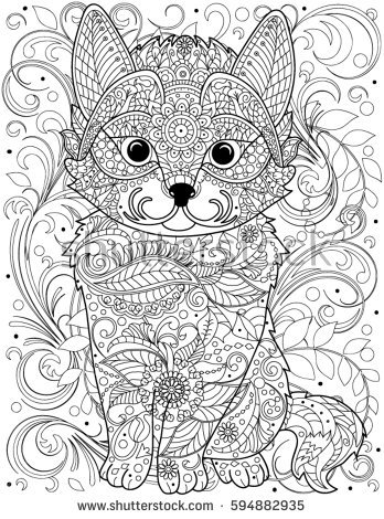 Cat Coloring Pages For Adults 68