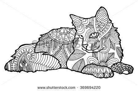 Cat Coloring Pages For Adults - Part 7
