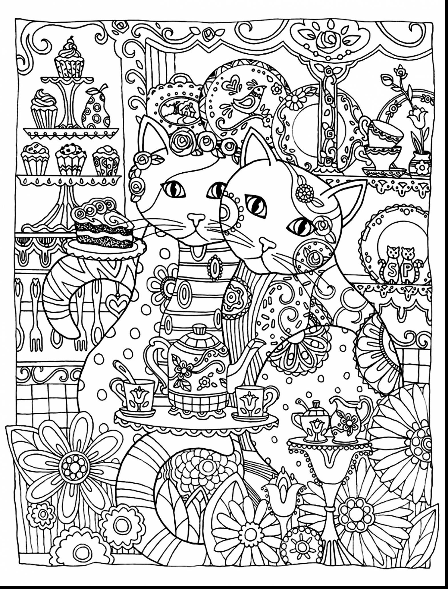 Cat Coloring Pages For Adults 70