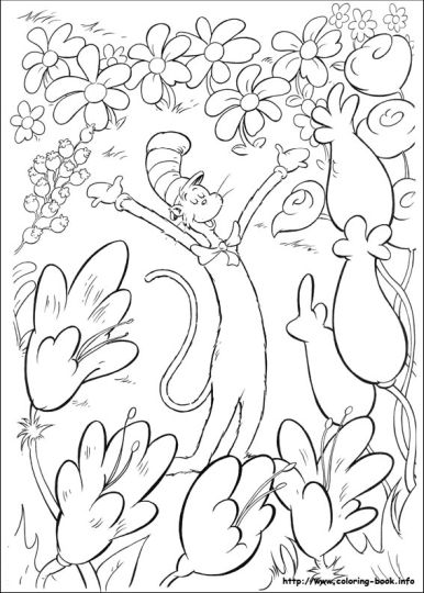 Cat In The Hat Coloring Pages 14