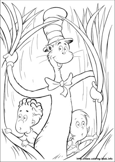 Cat In The Hat Coloring Pages 15