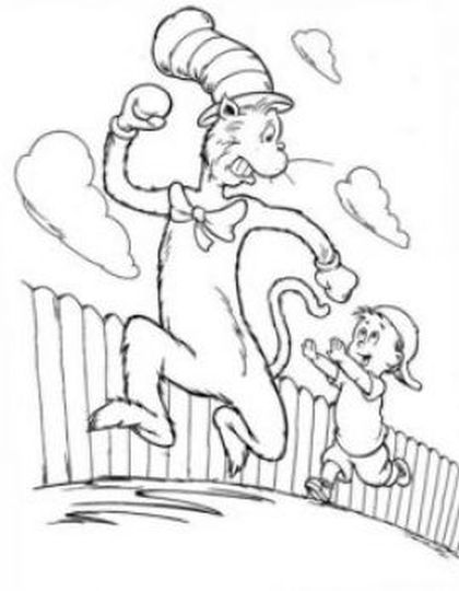 Cat In The Hat Coloring Pages 18