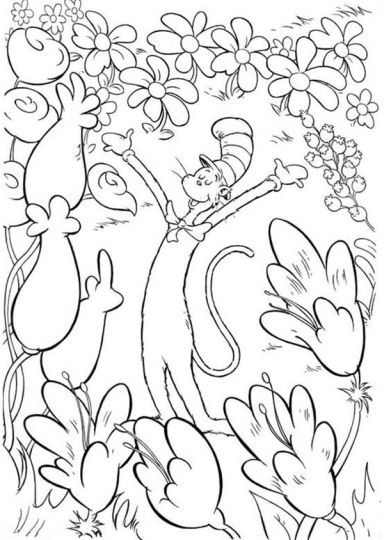 Cat In The Hat Coloring Pages 19