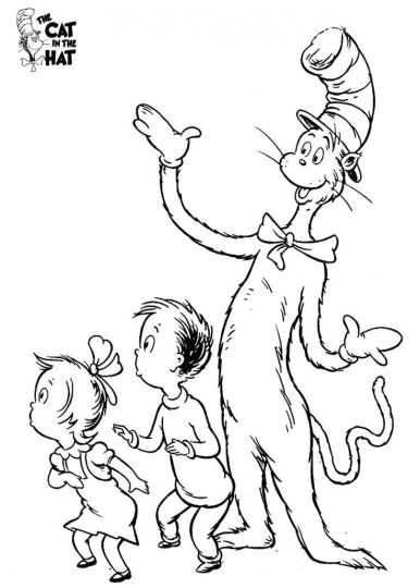 Cat In The Hat Coloring Pages 23