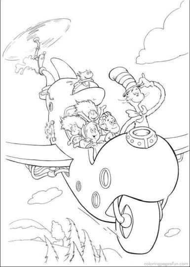 Cat In The Hat Coloring Pages 25