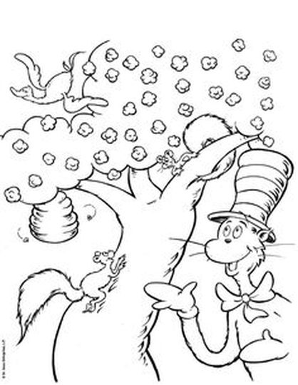 Cat In The Hat Coloring Pages 30