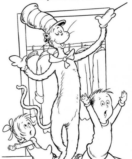 Cat In The Hat Coloring Pages 38