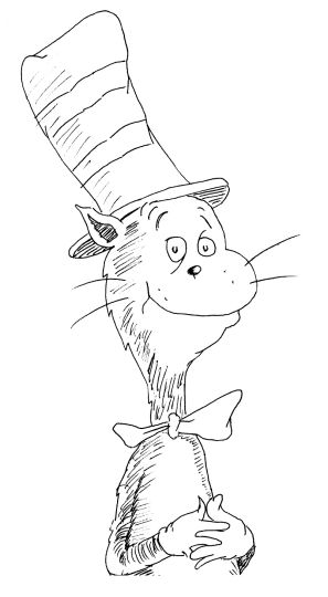 Cat In The Hat Coloring Pages 4