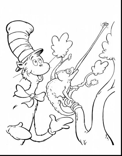 Cat In The Hat Coloring Pages 43