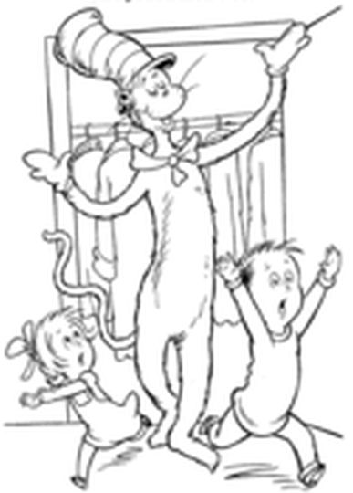 Cat In The Hat Coloring Pages 50