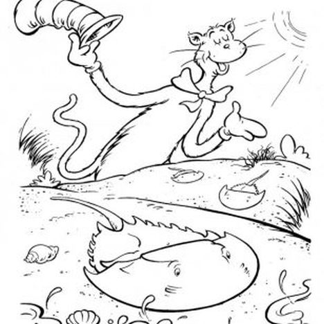 Cat In The Hat Coloring Pages 51