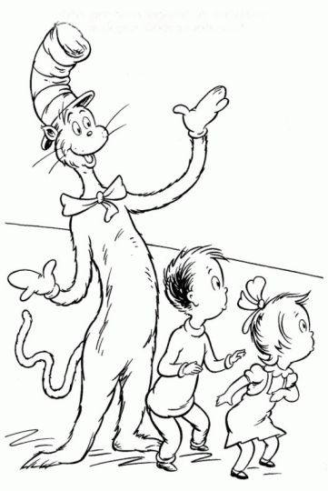 Cat In The Hat Coloring Pages 53