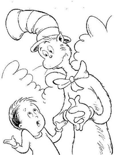 Cat In The Hat Coloring Pages 55