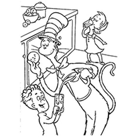 Cat In The Hat Coloring Pages 58