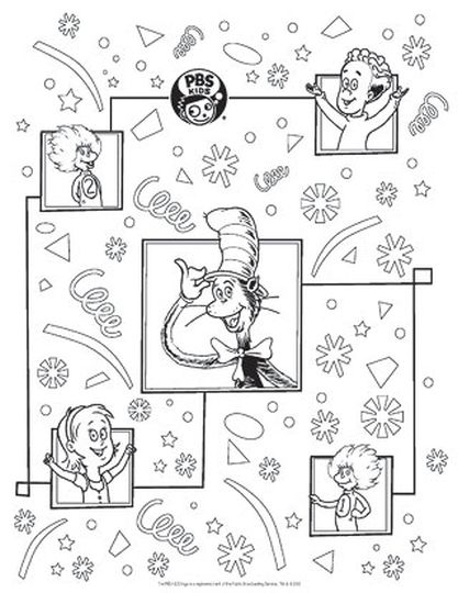 Cat In The Hat Coloring Pages 62