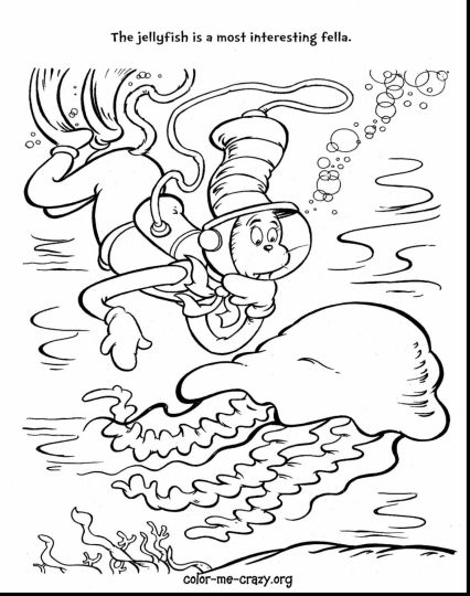Cat In The Hat Coloring Pages 7