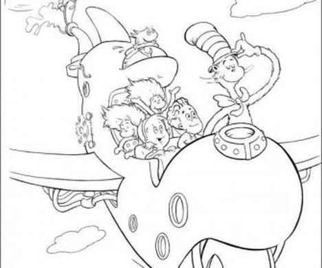 Cat In The Hat Coloring Pages 70