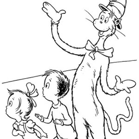 Cat In The Hat Coloring Pages 74
