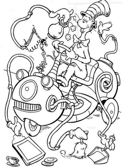 Cat In The Hat Coloring Pages 77