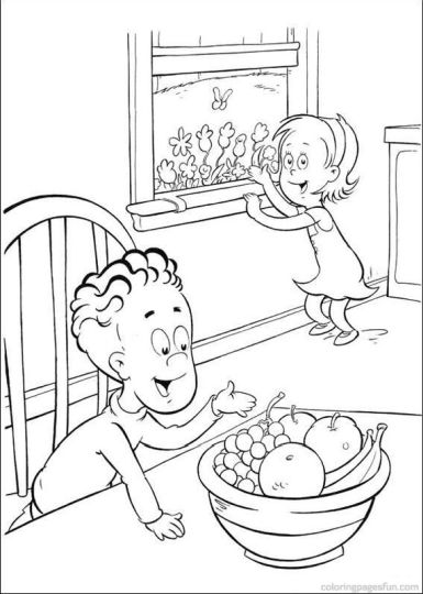 Cat In The Hat Coloring Pages 80