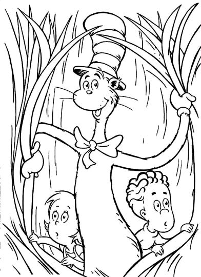 Cat In The Hat Coloring Pages 82