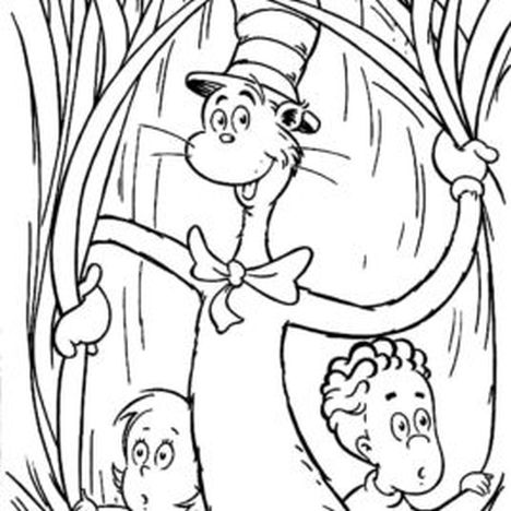 Cat In The Hat Coloring Pages 84