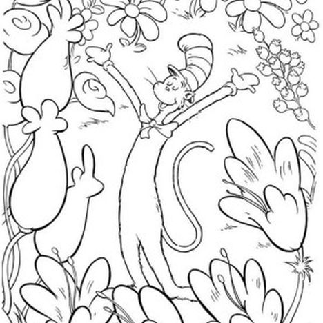 Cat In The Hat Coloring Pages 86