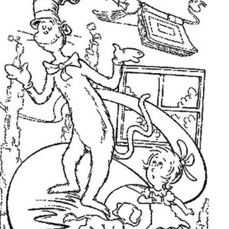 Cat In The Hat Coloring Pages 9