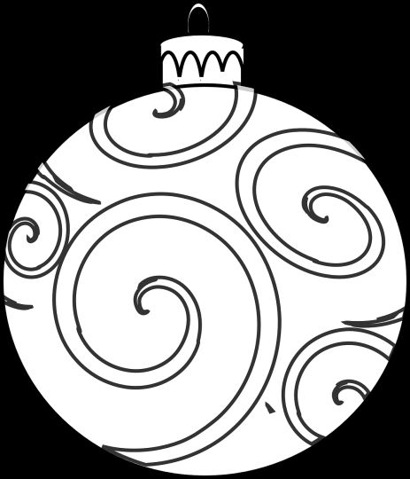 Christmas Ornament Coloring Pages 10
