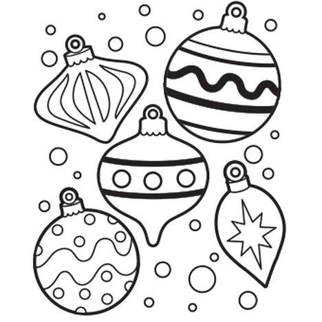 Christmas Ornament Coloring Pages 13
