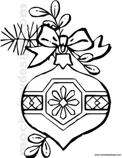 Christmas Ornament Coloring Pages 19