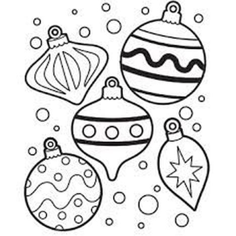 Christmas Ornament Coloring Pages 2