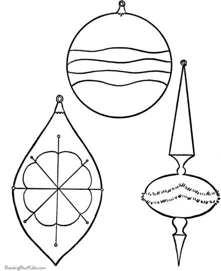 christmas ornament coloring pages 21 - Christmas Ornaments Coloring Page