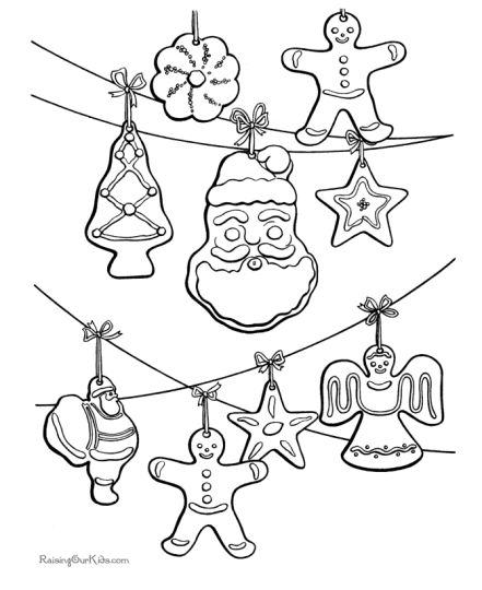 Christmas Ornament Coloring Pages 22