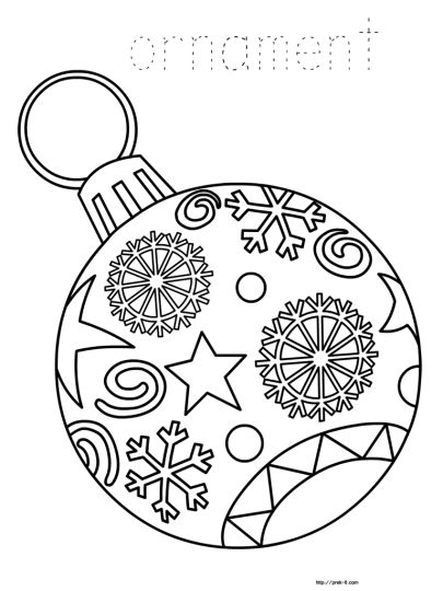Christmas Ornament Coloring Pages 23