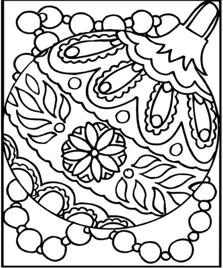 Christmas Ornament Coloring Pages 24