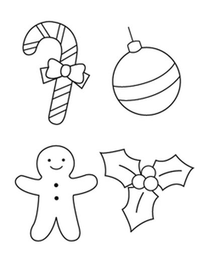Christmas Ornament Coloring Pages 26