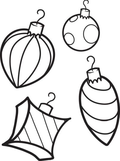 Christmas Ornament Coloring Pages 27